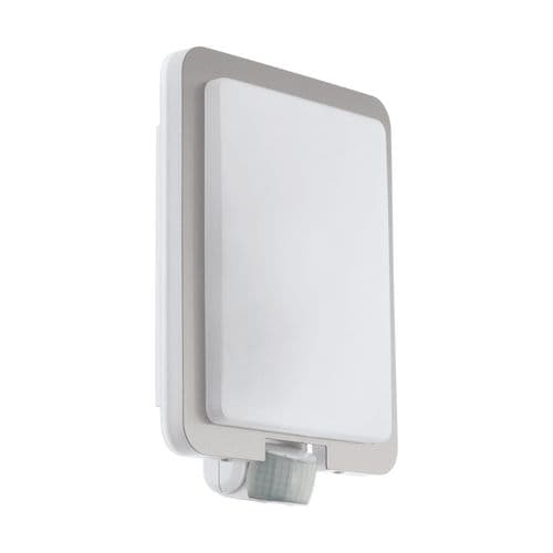 Eglo Outdoor 97218 Mussotto Outdoor Sensor Wall Light Stainless Steel, White